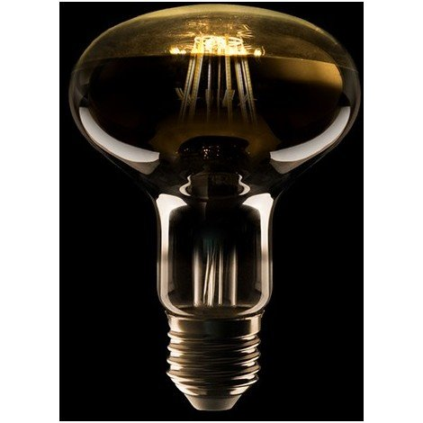 Bombilla Filamento R80 LED E27 6W 500Lm 40.000H | Blanco Cálido (JK-R8006-WW)