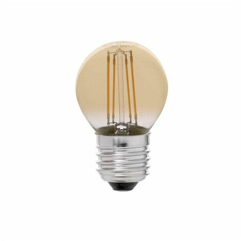 Bombilla G45 LED E27 4W FILAMENT AMBAR DIMABLE 2200K 300Lm