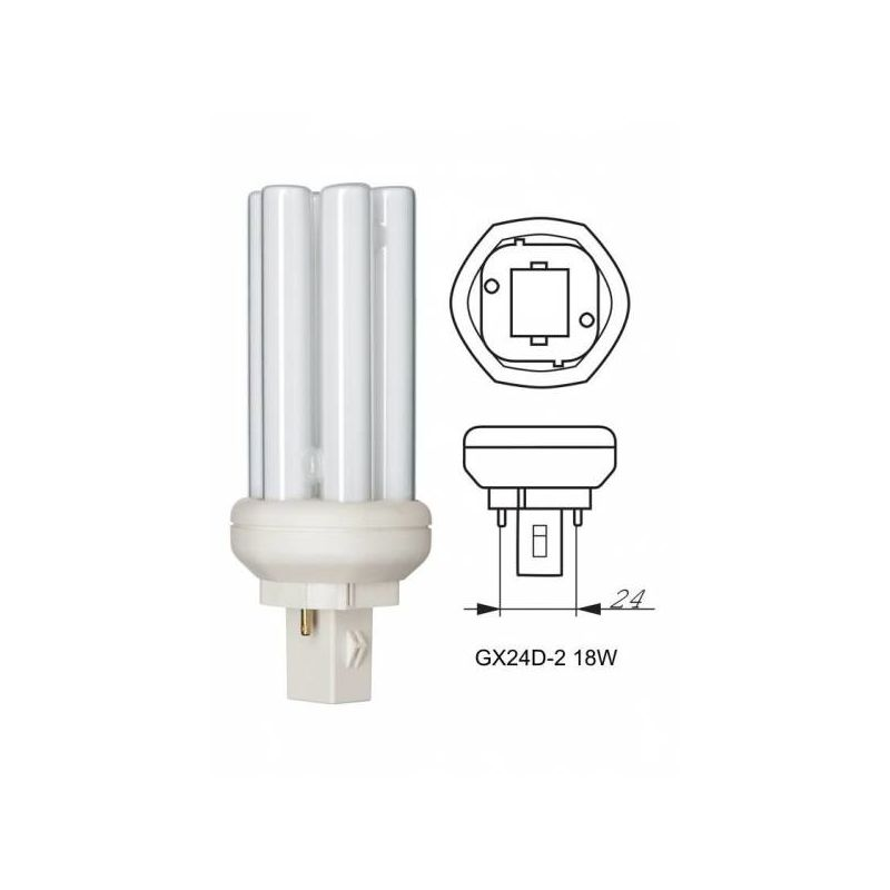Bombilla General Electric 12811 GX24d-2 18W 4000K 1200lm Biax T 2P