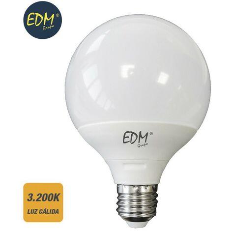 Bombilla globo 125mm led 15w E27 3200k luz calida EDM 98803