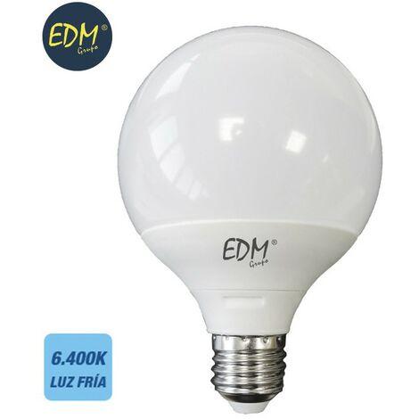Bombilla globo 125mm led 15w E27 6400k luz fria EDM 98802