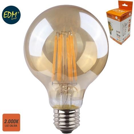 Bombilla Globo Ø 80Mm Filamento Led Cristal Vintage 8W E27 700 Lumens 2.000K - NEOFERR