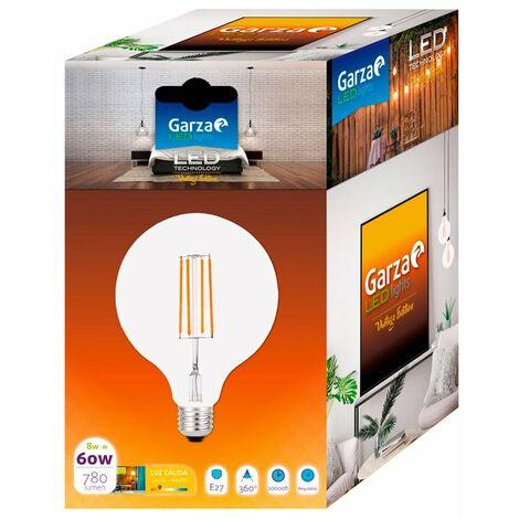 Bombilla globo G125 LED regulable E27 8W