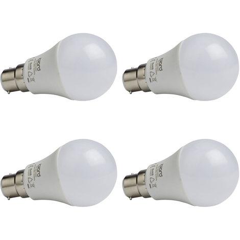 Bombilla Globo LED Biard con Intensidad Luminosa Regulable B22 7W A60 - Blanco Frío 6000K - Conjunto con 4 Unidades