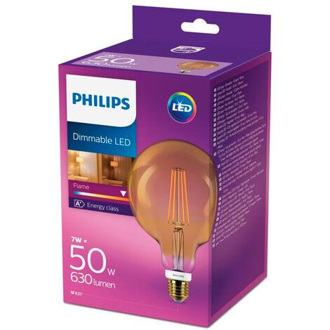 Bombilla globo LED Gold dimable E27 7W