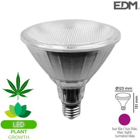 Bombilla grolux par38 led e27 13w 110 lm luz lila ideal para el crecimiento de plantas edm