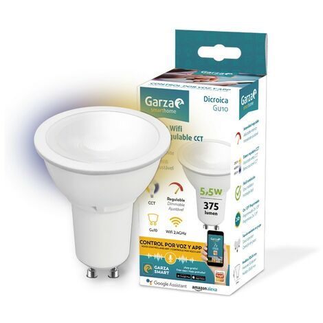 Bombilla GU10 Led inteligente WIFI GARZA SMART HOME 401276 5,5W GU10