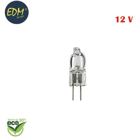 "Bombilla halogena bi-pin ""energy saver"" 12v 14w g4 (equ. 30w) edm"