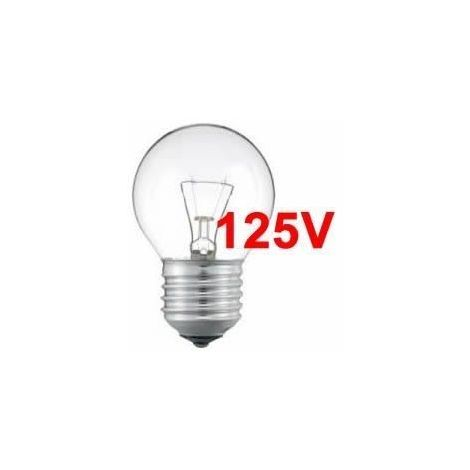 Bombilla incandescente 125V esférica 40W E27