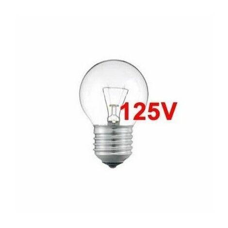 Bombilla incandescente 125V esférica 60W E27