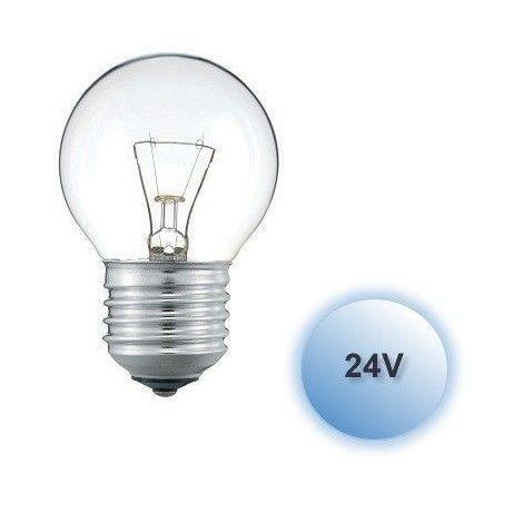 Bombilla incandescente 24V esférica 60W E27