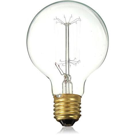 Bombilla incandescente de filamento de carbono Edison Vintage E27 40W G80 Mohoo