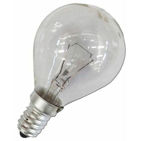 Bombilla incandescente esferica clara 60W E14 240V EDM 35127