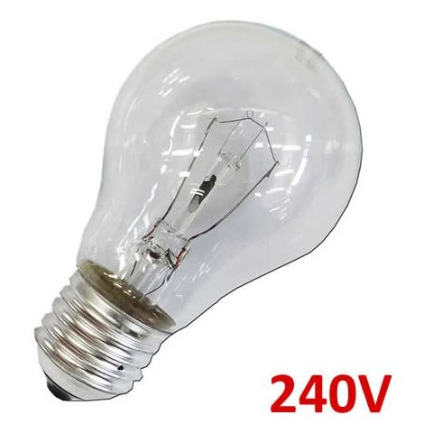 Bombilla incandescente standard clara 40W E27 240V EDM 35101
