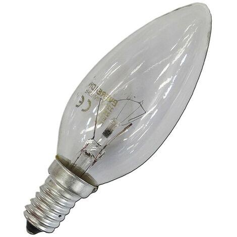 Bombilla incandescente vela clara 40W E14 240V EDM 35142