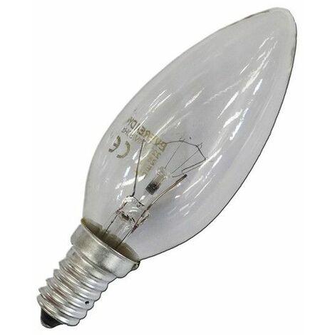 Bombilla incandescente vela clara 60W E14 240V EDM 35143