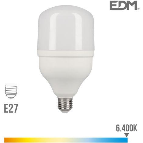 Bombilla industrial led e27 30w 2400 lm 6400k luz fria edm