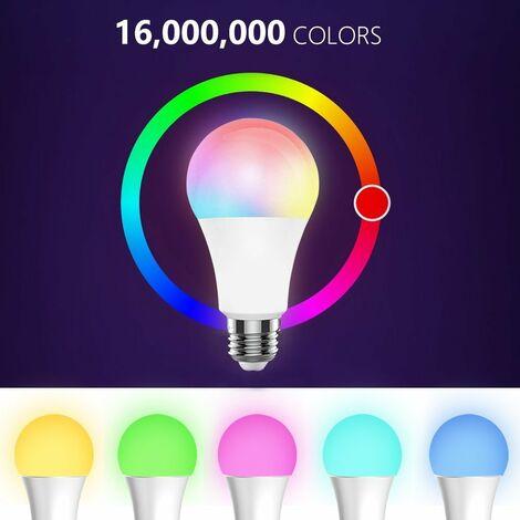 Bombilla inteligente Bombilla de luz LED RGB LED multicolor 4W GU10 luz inalambrica BT regulable Luz Telefono remoto bombilla de lampara de Control, Control de BT, 4W