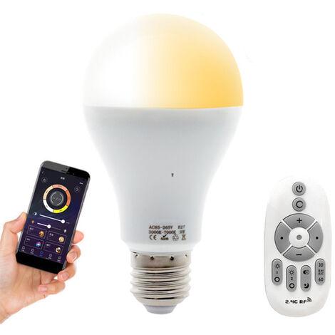 Bombilla inteligente, bombilla LED WiFi de 2,4G, bombilla que cambia de color RGB