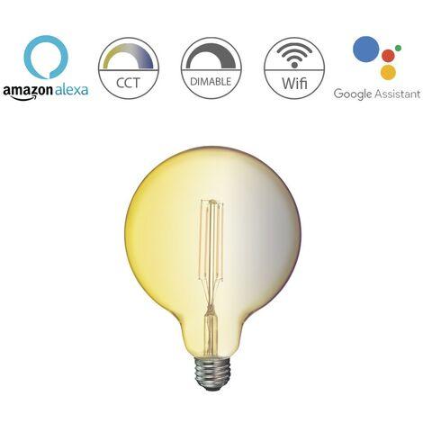 Bombilla inteligente globo E27 7W 780Lm Wifi 360º Ambar