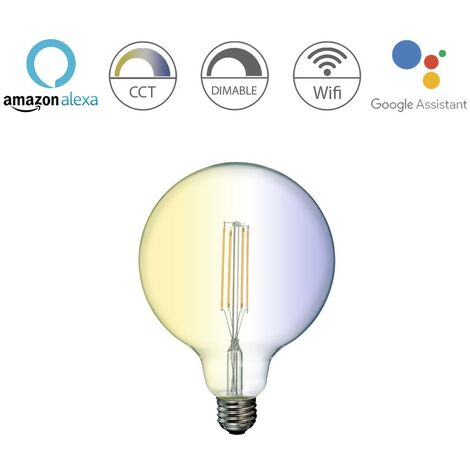 Bombilla inteligente globo E27 7W 780Lm Wifi 360º Transparente
