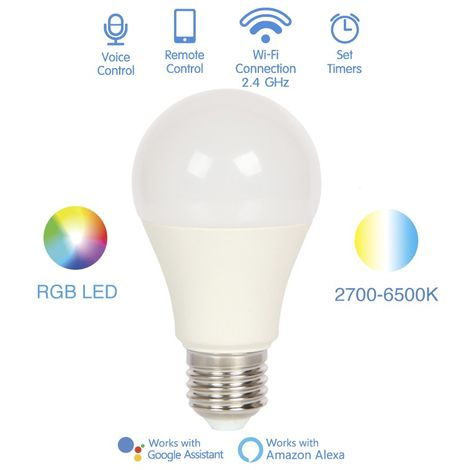 Bombilla inteligente LED E27 (8W)