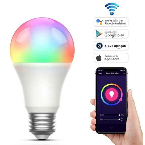 Bombilla inteligente Smart WIFI RGBWW E27 9W