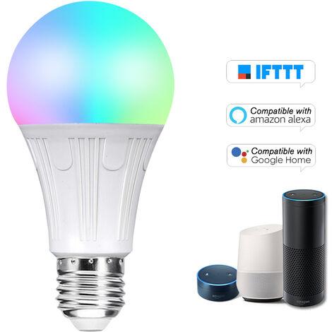 Bombilla inteligente V12 WIFI bombilla LED RGB + W LED de 11W E27 regulable Luz Telefono de control remoto Control de Grupo Compatible con bulbo Alexa pagina principal de Google Voice Genie Tmall de control de luz