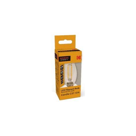 Bombilla Kodak Filamento Cristal C37/ E14/ 470lm/ Calido 3000k/ 4w-40w/ No Regu