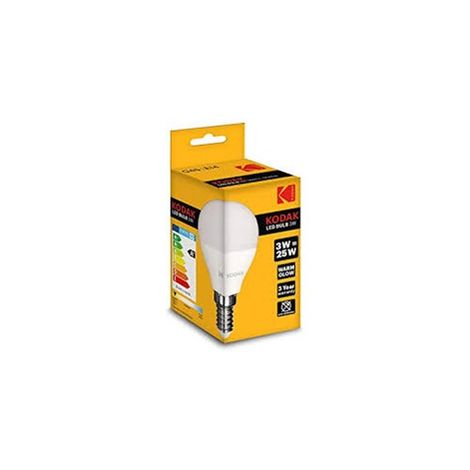 Bombilla Kodak Led Esperica G45/ E14/ 200lm/ Calido 3000k/ 25w/ No Regulable