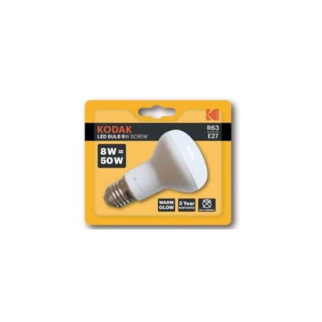 Bombilla Kodak Led Reflectora R63/ E27/ 640lm/ Calido 3000k/ 8w-50w/ No Regulab