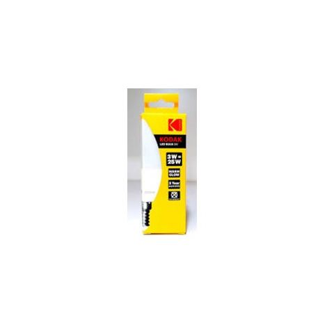 Bombilla Kodak Led Vela C37/ E14/ 200lm/ Calido 3000k/ 25w/ No Regulable