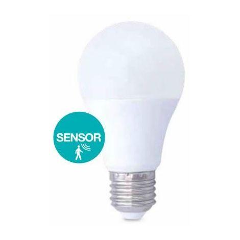Bombilla LED 10W con sensor de presencia E27 6000K