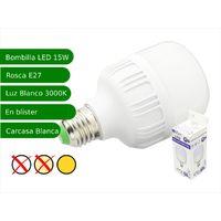 Bombilla LED 15W rosca E27 luz 3000K blanca cálida