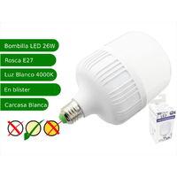 Bombilla LED 26W rosca E27 luz 4200K blanca natural