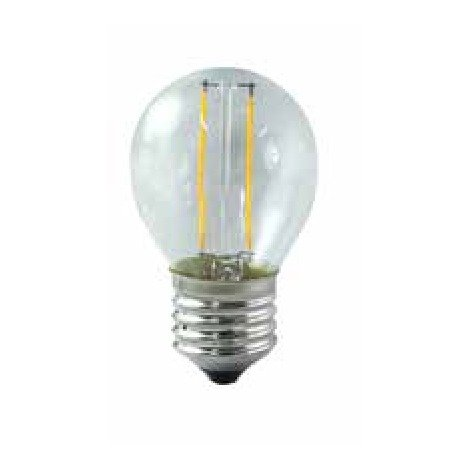BOMBILLA LED 3.5W E27 ESFERICA TRANSPARENTE Color de Iluminación Cálido (2700k)