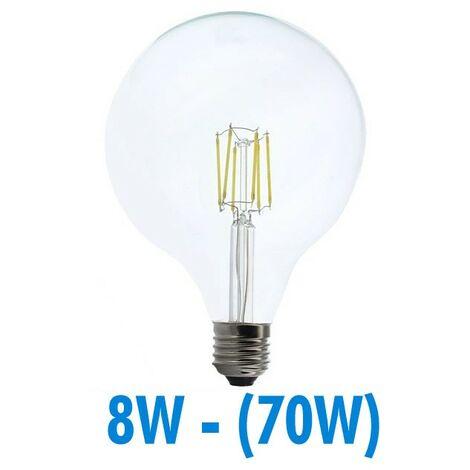 Bombilla LED 8W (70W) FILAMENT E27 Globo luminoso D125