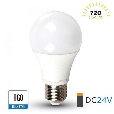 Bombilla led A60 DC24V E27 9W 200°