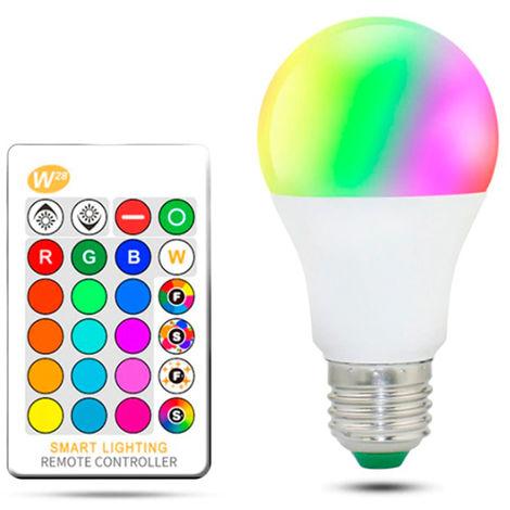 Bombilla LED A60 E27 10W RGB+W con Mando RGB Opal | IluminaShop