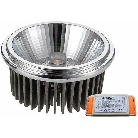 Bombilla LED AR111 Cob 20W 20° 230V Driver incluido