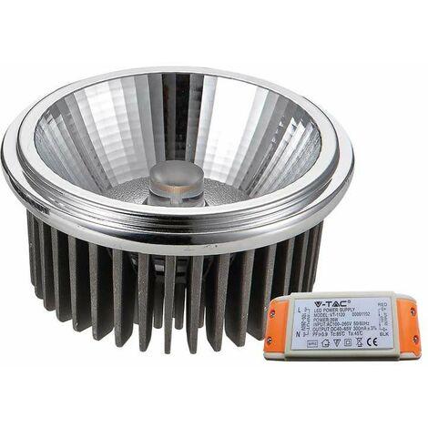 Bombilla LED AR111 Cob 20W 40° 230V Driver incluido Temperatura de color - 6000k Blanco frío