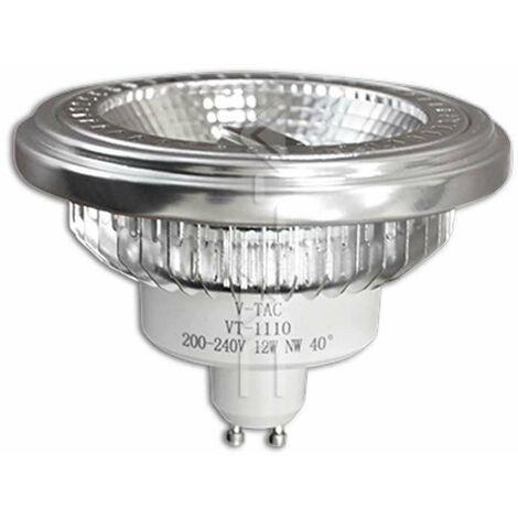 Bombilla LED AR111 Cob GU10 12W 40° 230V Regulable