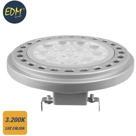 BOMBILLA LED AR111 G53 12W 12V 900 LM 3200K LUZ CALIDA EDM