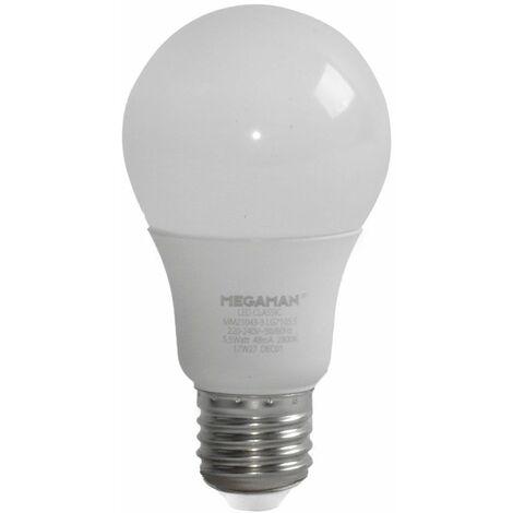 Bombilla LED Bombilla incandescente E27 5.5 vatios Lámpara 2800K Lámpara de 470 lúmenes MEGAMAN MM21043