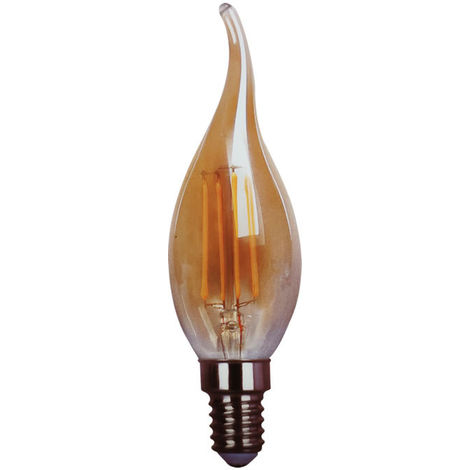 Bombilla led c37 filamento vela candle e14 4w