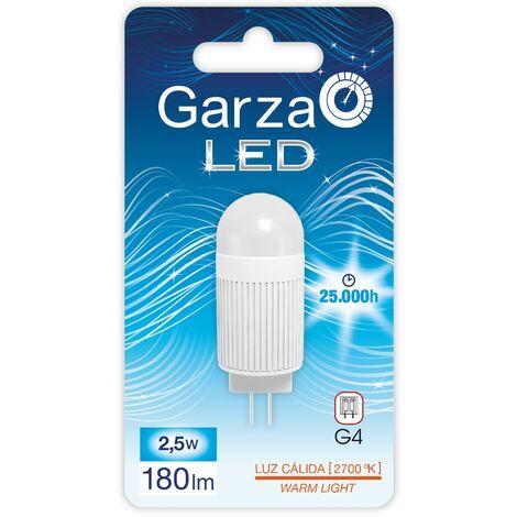 Bombilla LED casquillo G4 2,5W 180 lumenes 12V Luz cálida