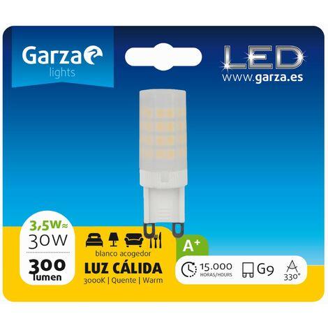 Bombilla LED casquillo G9 3,5W 330º 300 lumenes 27K 230V