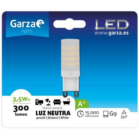 Bombilla LED casquillo G9 mate, 3,5W 300 lumenes, Luz neutra