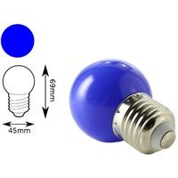 Bombilla LED color azul E27 1W interior decorativa