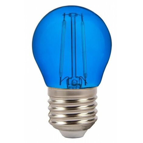 Bombilla led Color Experience G45 E27 2W 300° Azul